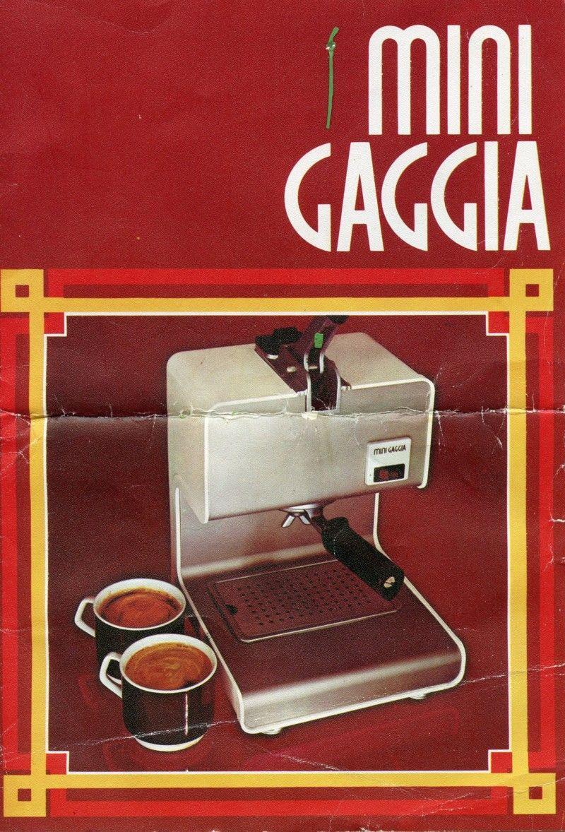 Mini Gaggia Espresso Machine Manual Cappuccino Bar Maker