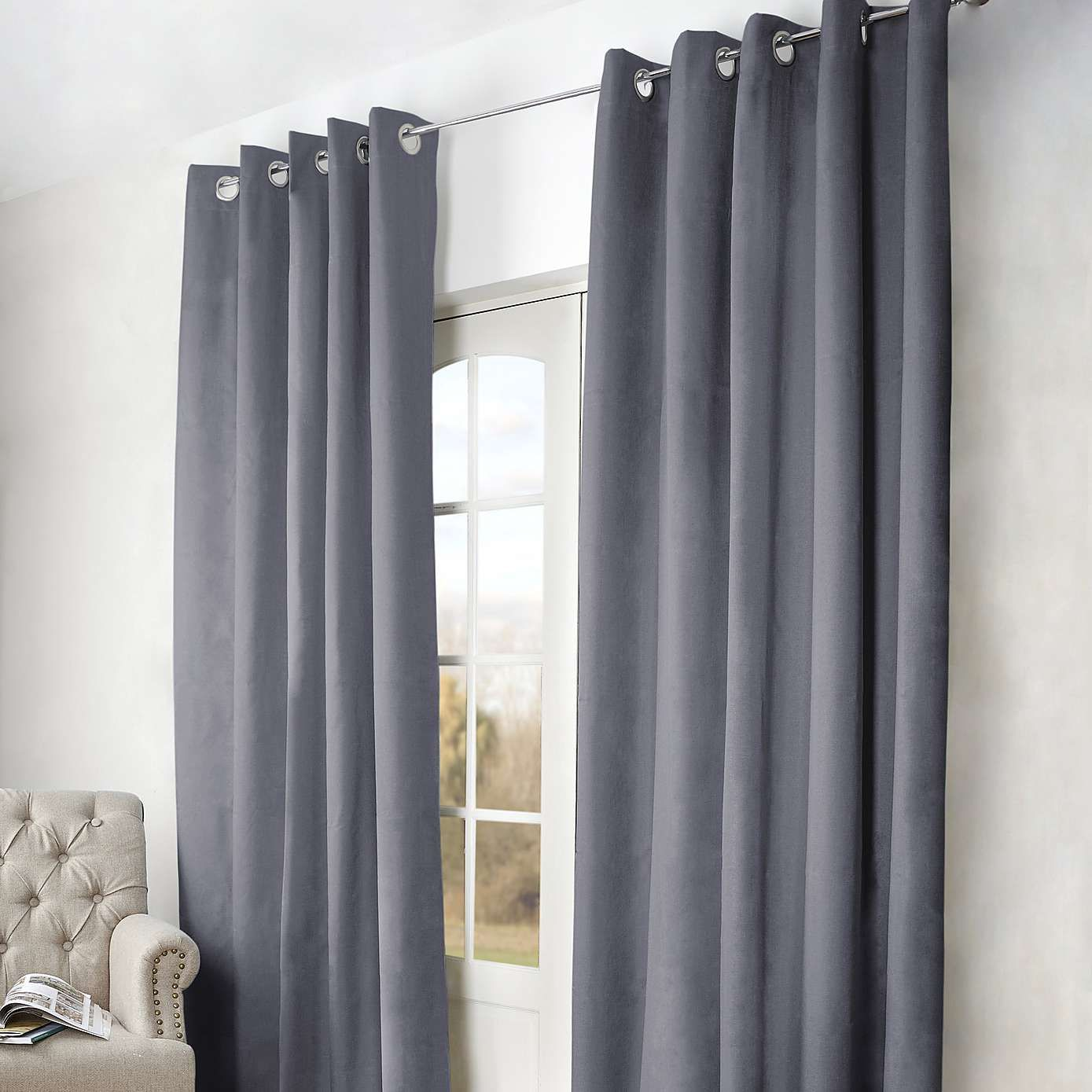 Grey Thermal Curtains Arizona Grey Thermal Blackout Eyelet Curtains Dunelm My New