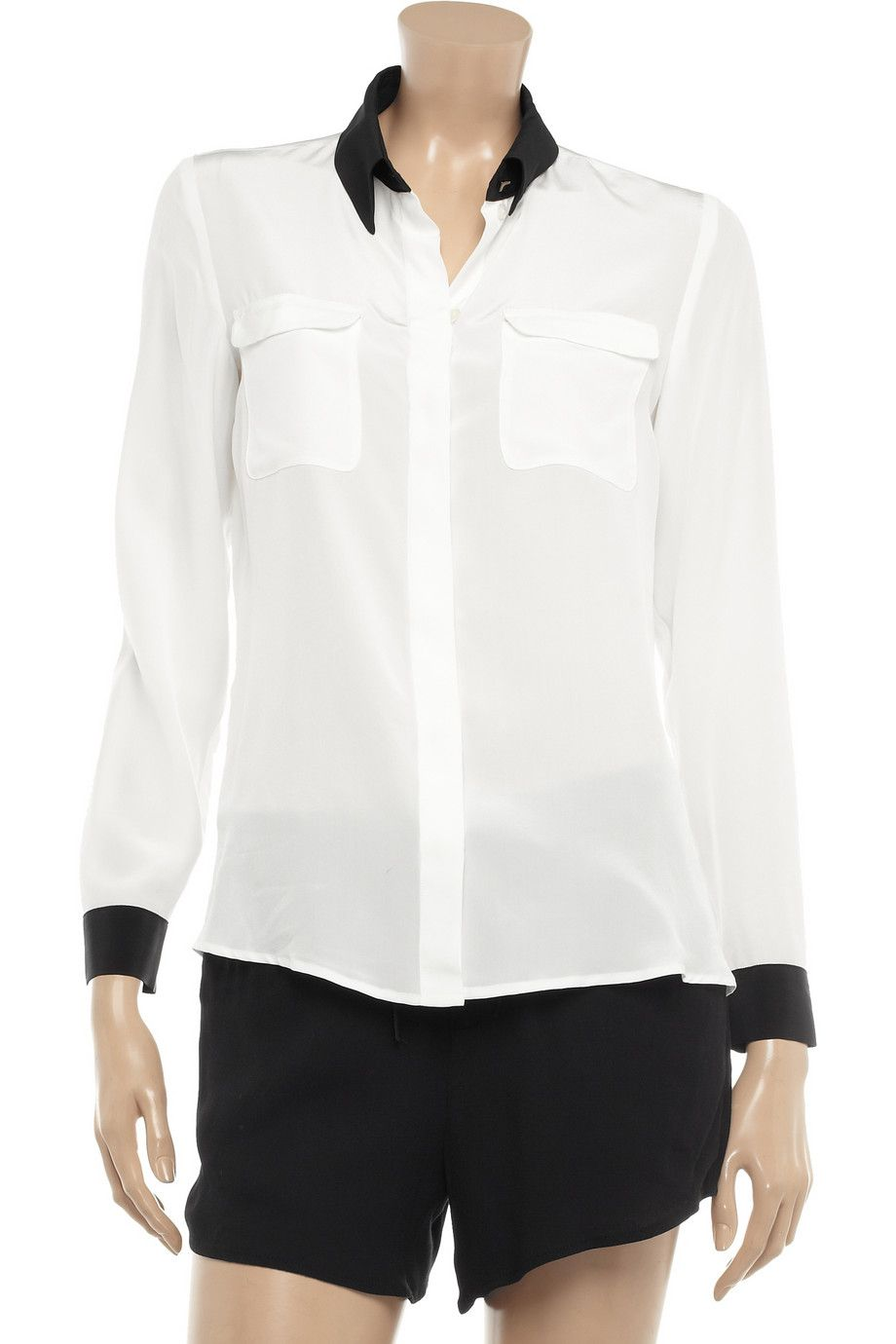 ba0755dd2a1dd2 White blouse, black trim. The Shirt Company. | Shirt Off My Back ...