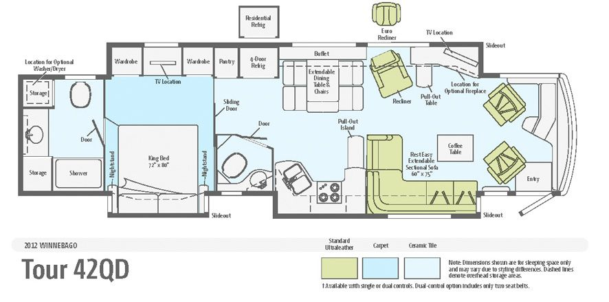 2 bedroom motorhome floor plans thefloors co for Floor plans for motorhomes