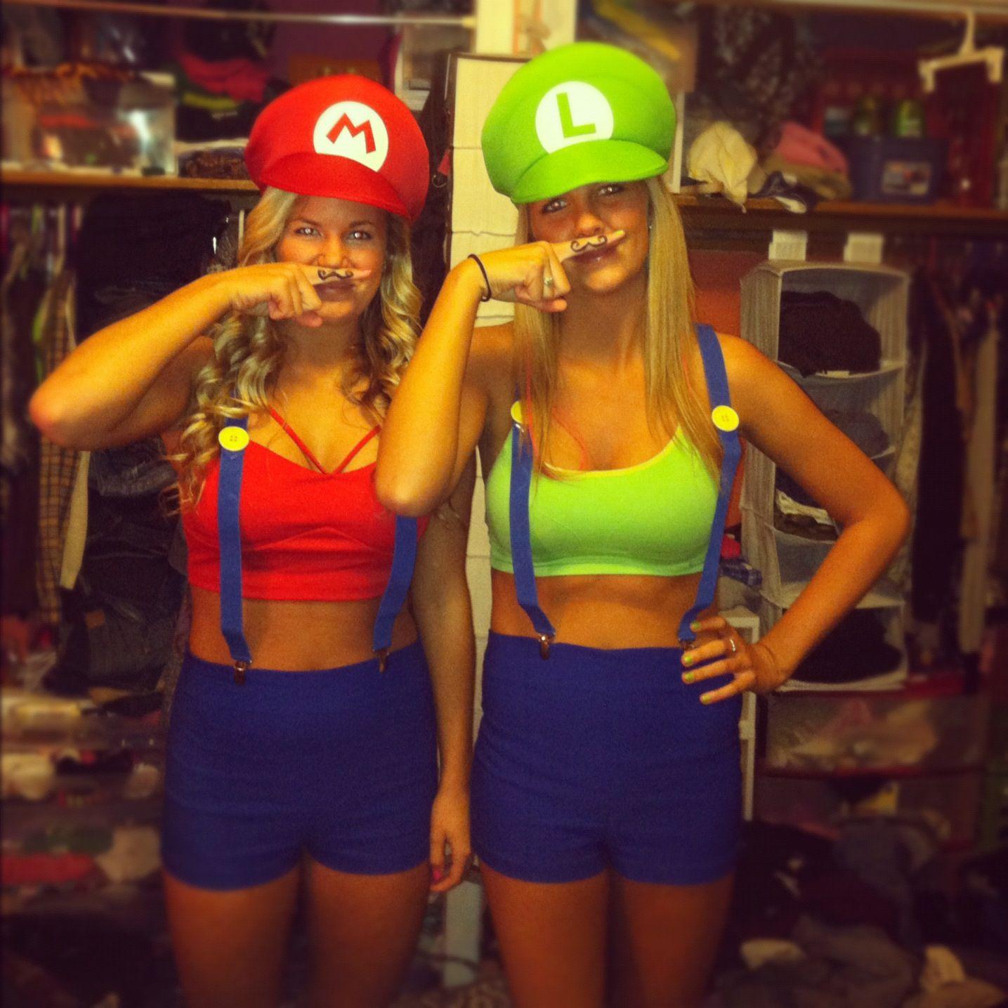 halloween costume - Girl Mario And Luigi Halloween Costumes