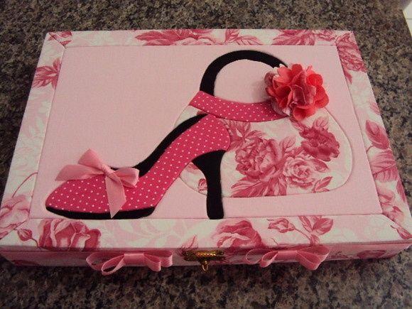 Caixa bolsa e sapato
