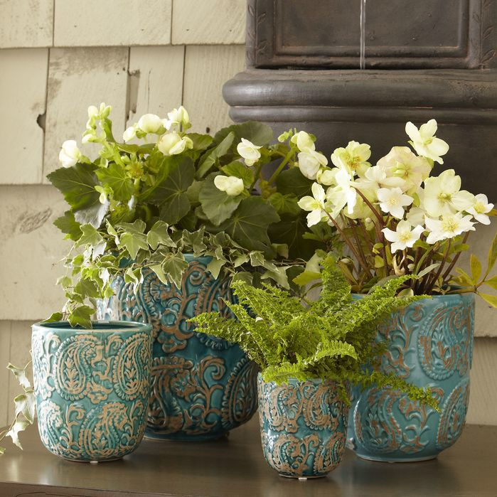 4 Piece Arika Planter Set