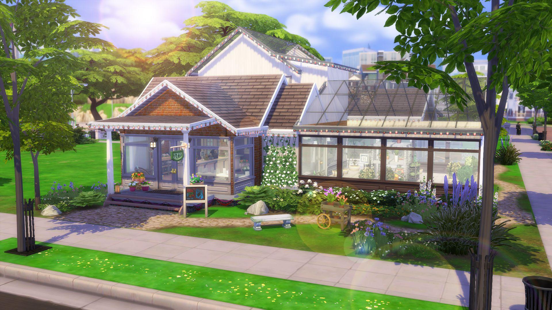 Oasis De Fraicheur Maison Sims Sims 4 Maison Plan Maison