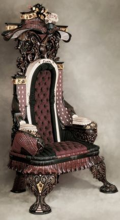 Steampunk Throne***   Carved chairs, Art furniture, Gothic furniture