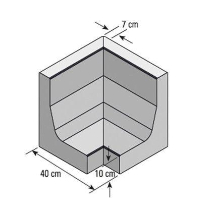 Winkel-Eckstein Grau 40 cm x 40 cm x 40 cm   Ludmilla   Pinterest