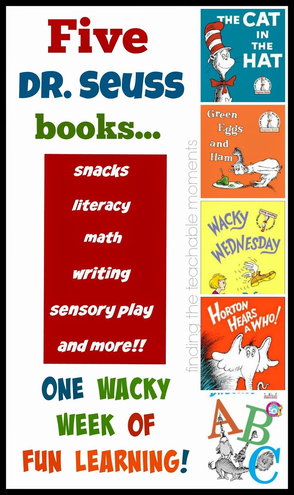 Dr Seuss Week- So many fun ways to learn with five different Dr ...