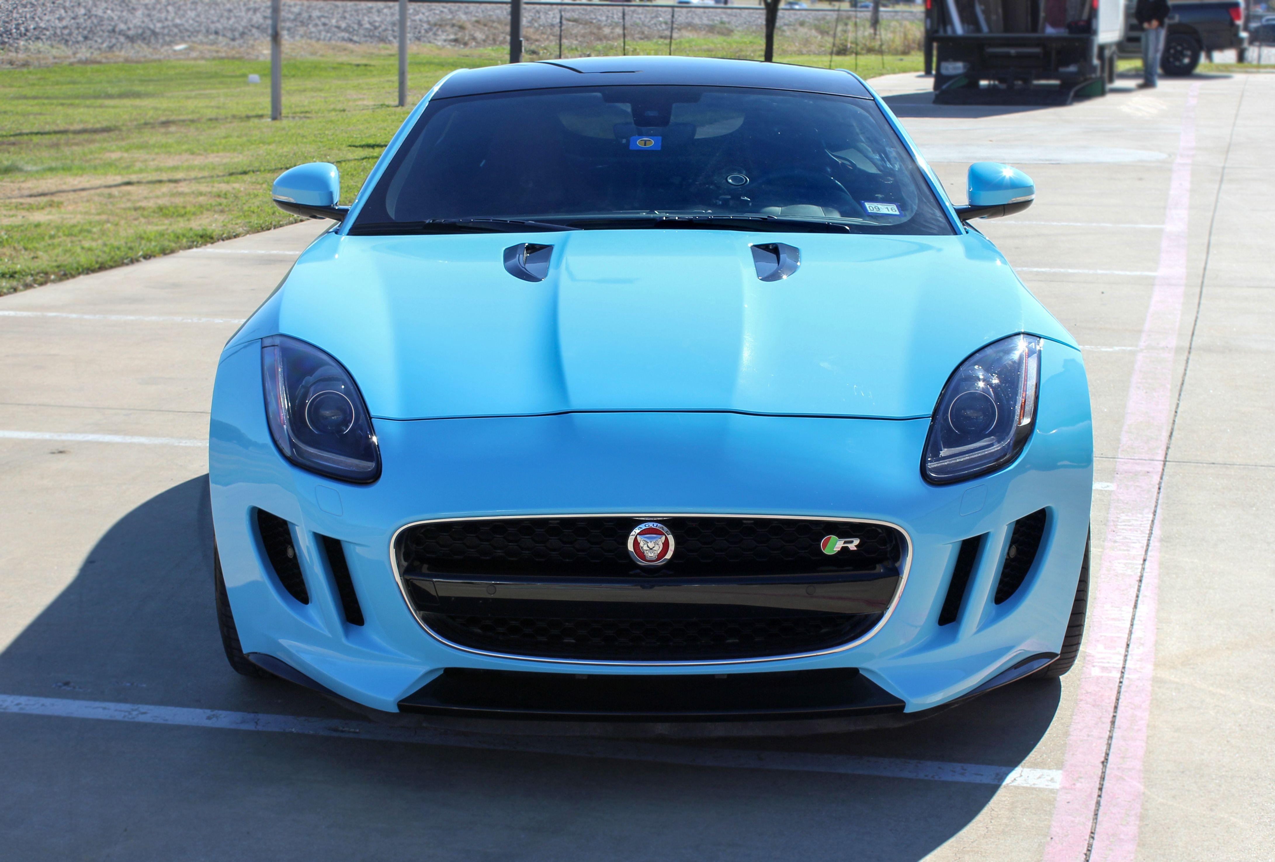 Baby Blue Jaguar Car Wrap Sky Blue Car Wrap Sport Car Wrap Ideas Car Wrap Jaguar Car Jaguar