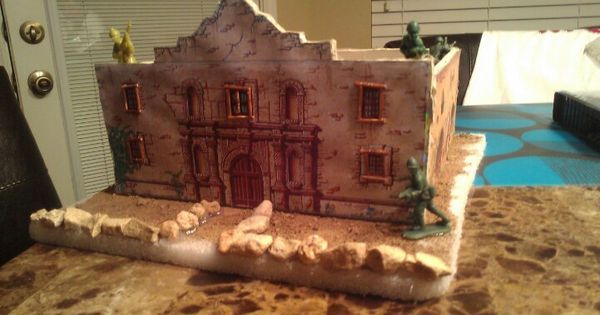 How To Build The Alamo For A School Project School Projects Alamo Diorama Kids