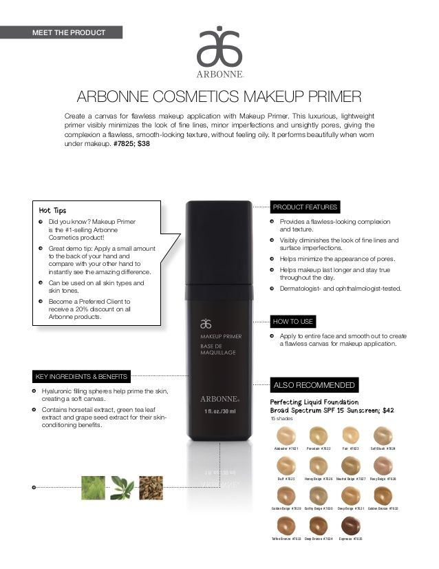 Meet The Product Hot Tips Did You Know Makeup Primer Is The 1 Selling Arbonne Cosmetics Product Great Arbonne Cosmetics Arbonne Makeup Arbonne Mascara