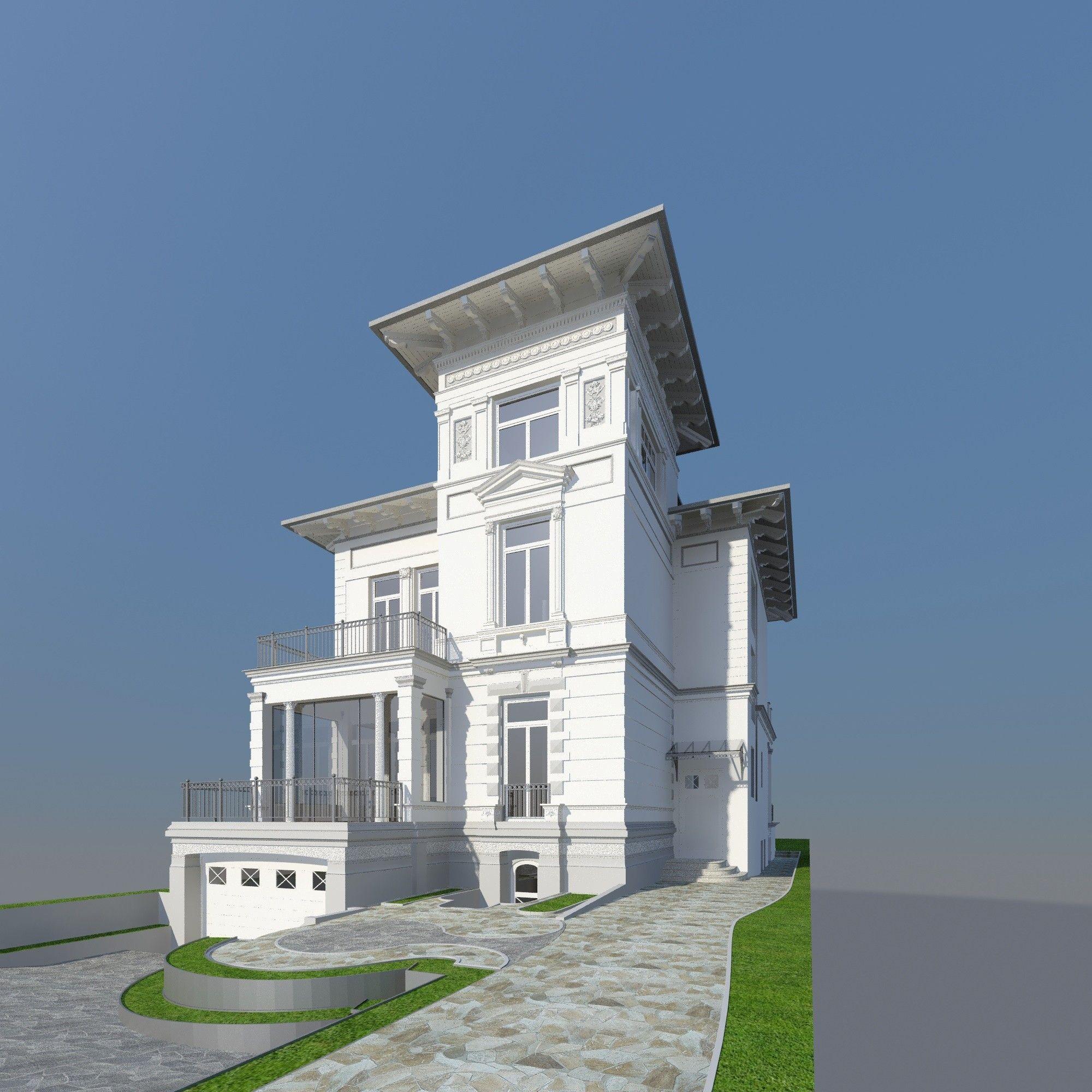German Luxury House: Historical German 3d Max