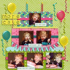 Birthday Scrapbook Page Ideas | birthday scrapbook page | best from pinterest