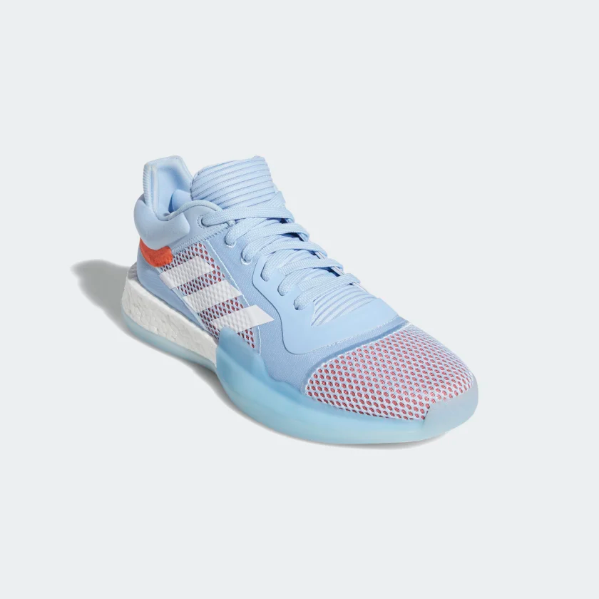 Humanista Mono aventuras  Marquee Boost Low Shoes Glow Blue / Cloud White / Hi-Res Coral G26215 | Blue  adidas, Blue shoes, Shoes