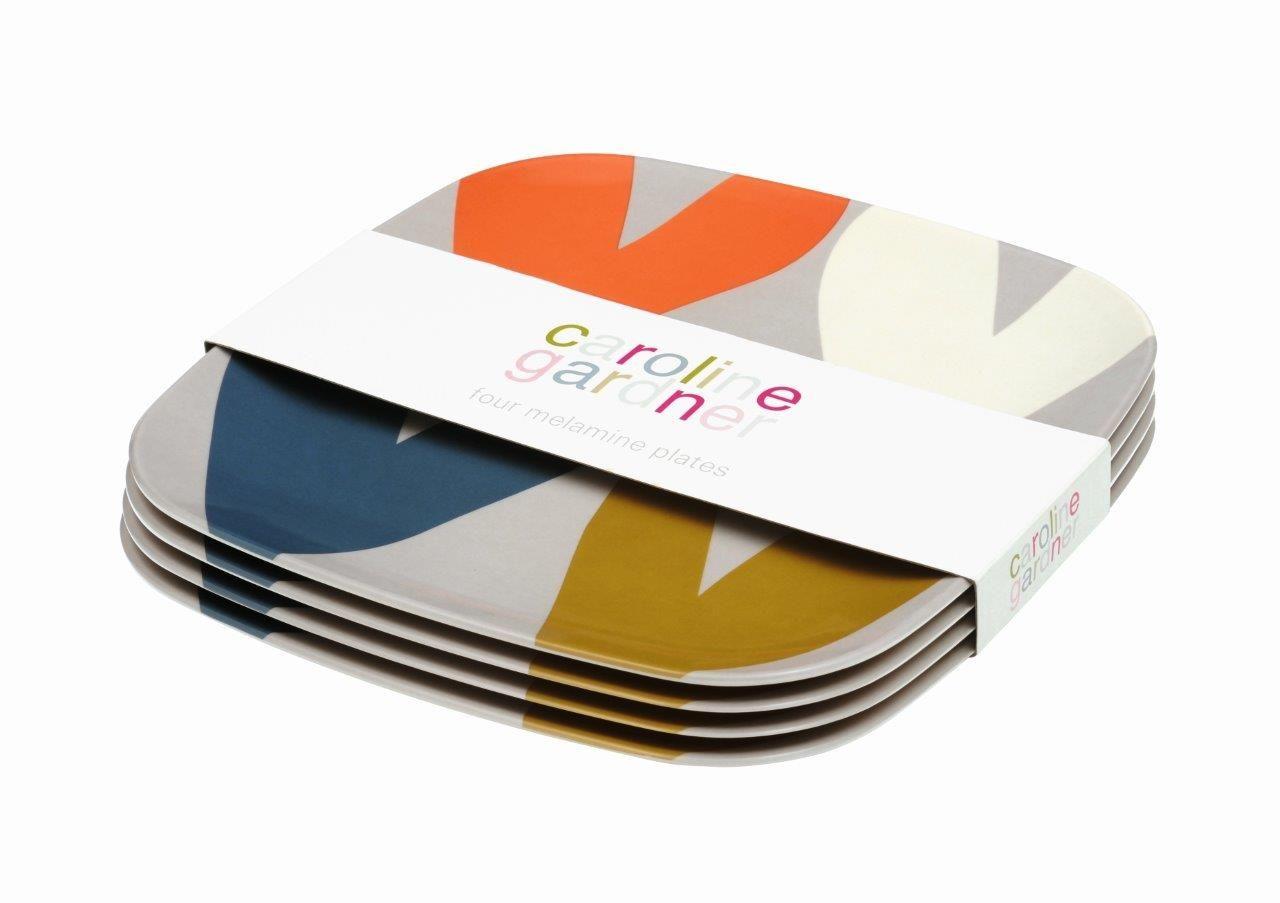 Caroline Gardner Heart Print Melamine Plates Set of 4  sc 1 st  Pinterest & Hearts Set 4 melamine plates | Caroline Gardner | Pinterest ...