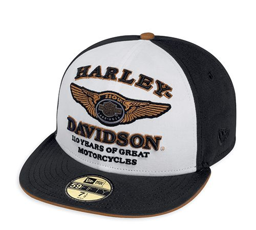 Harley Davidson Fitted Hats: Harley Davidson 110 Years Old... And Stronger Than Ever