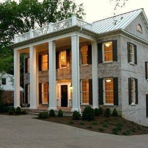 Painted Brick Houses Before And After Traditional Exterior With Wood Columns  In Nashville Part 64
