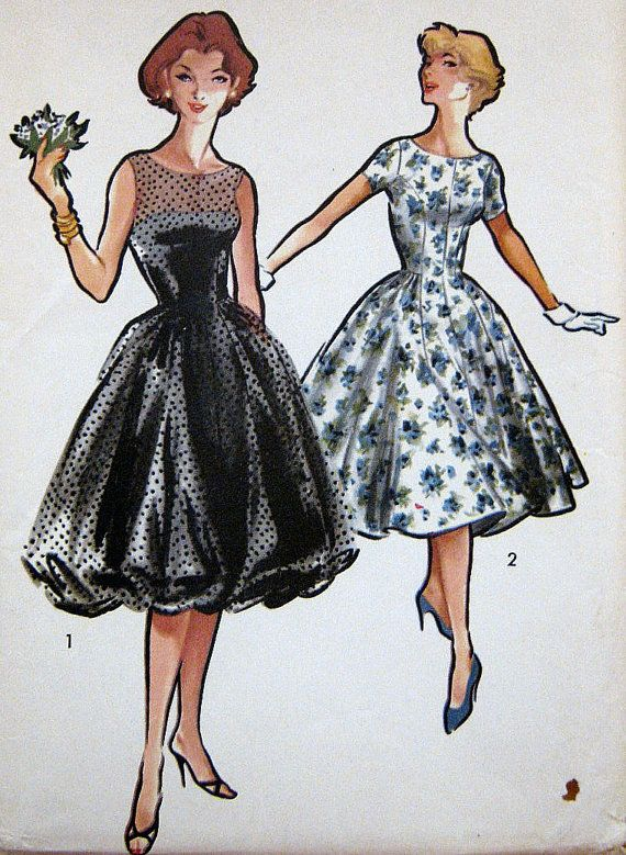 Vintage Retro1950s Cocktail Party Dress Pattern by PatternGal, $45.00 - need to find a seamstress!!!