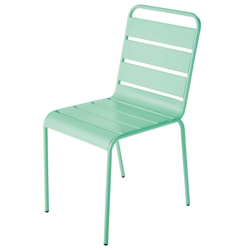 Turquoise Blue Metal Garden Chair Outdoor Chairs Leather Chaise