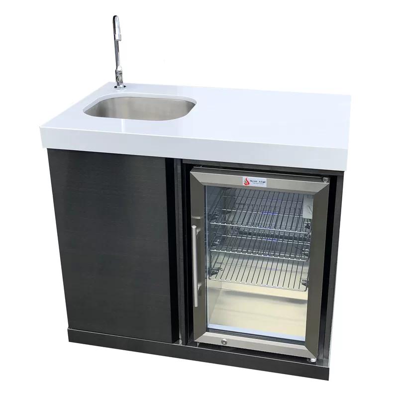 Outdoor Free Standing Bar Center Sink Outdoor Sinks Sink Outdoor Kitchen Cabinets