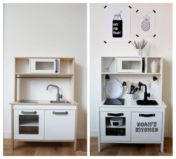 Ikea Kitchen Diy: DIY: Monochrome Make-over Ikea Duktig Play Kitchen