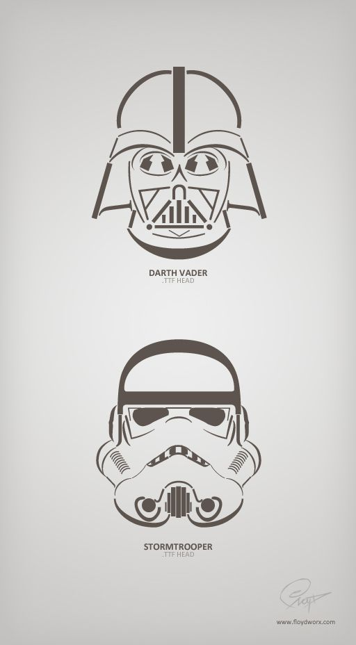 Vader & Stormtrooper made out of fonts by floydworx | tipography ...