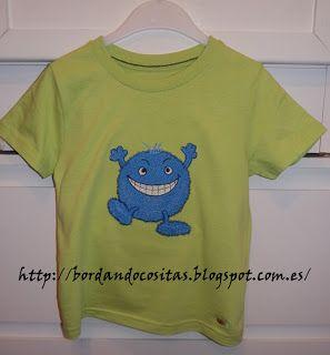 Camiseta monstruillo azul  0041172ee8bad