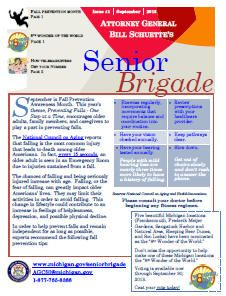 Michigan Senior Brigade Monthly Newsletter  Seniors Of Greater