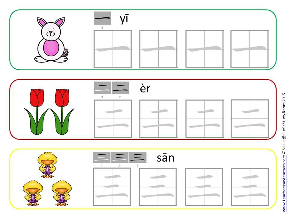 Chinese Numbers 1-10: Write And Wipe Cards