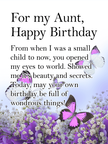 You Opened My Eyes Happy Birthday Card For Aunt They Say A Single