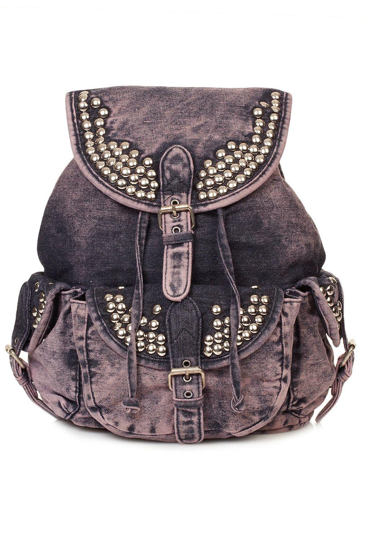 overdyed denim backpack