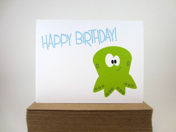 Birthday Card Happy Birthday Greeting Card by craftedbylindy Fødselsdag kort enkelt