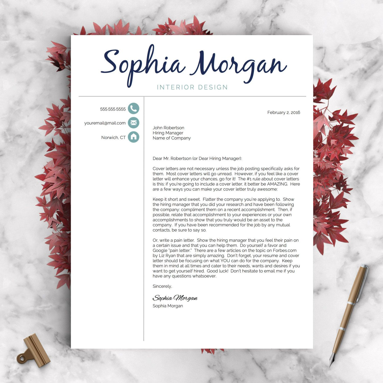 executive assistant resume template for word and pages