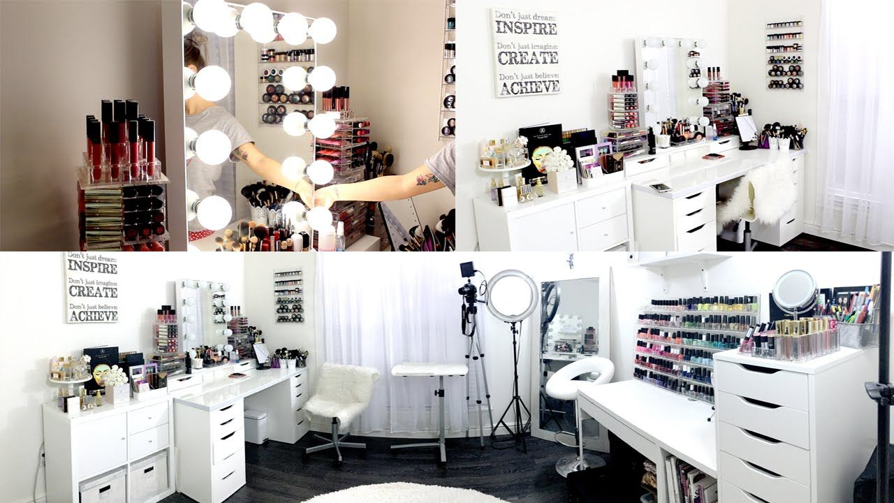 makeup room filming set up exciting news  Modern dressing table