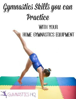 List of gymnastics skills you can practice at home with your home - skills list