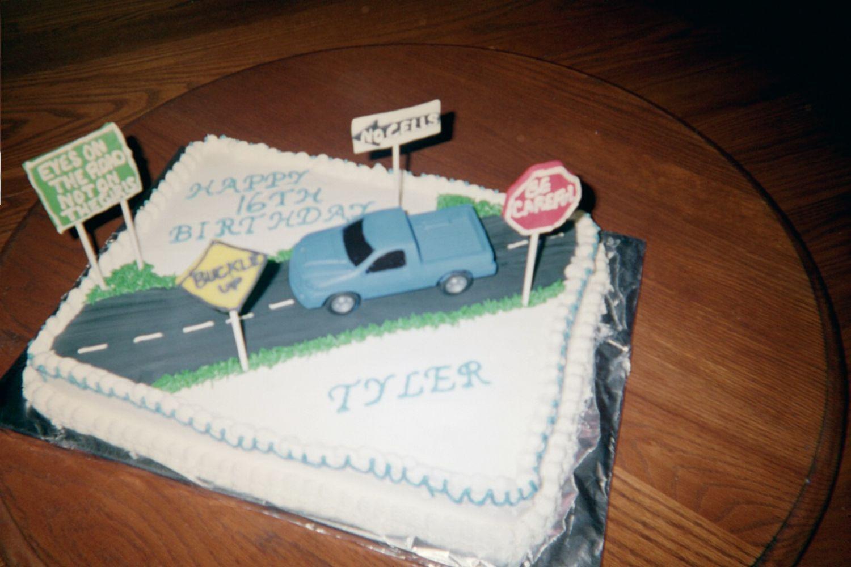 Sixteen Boy Birthday Cake