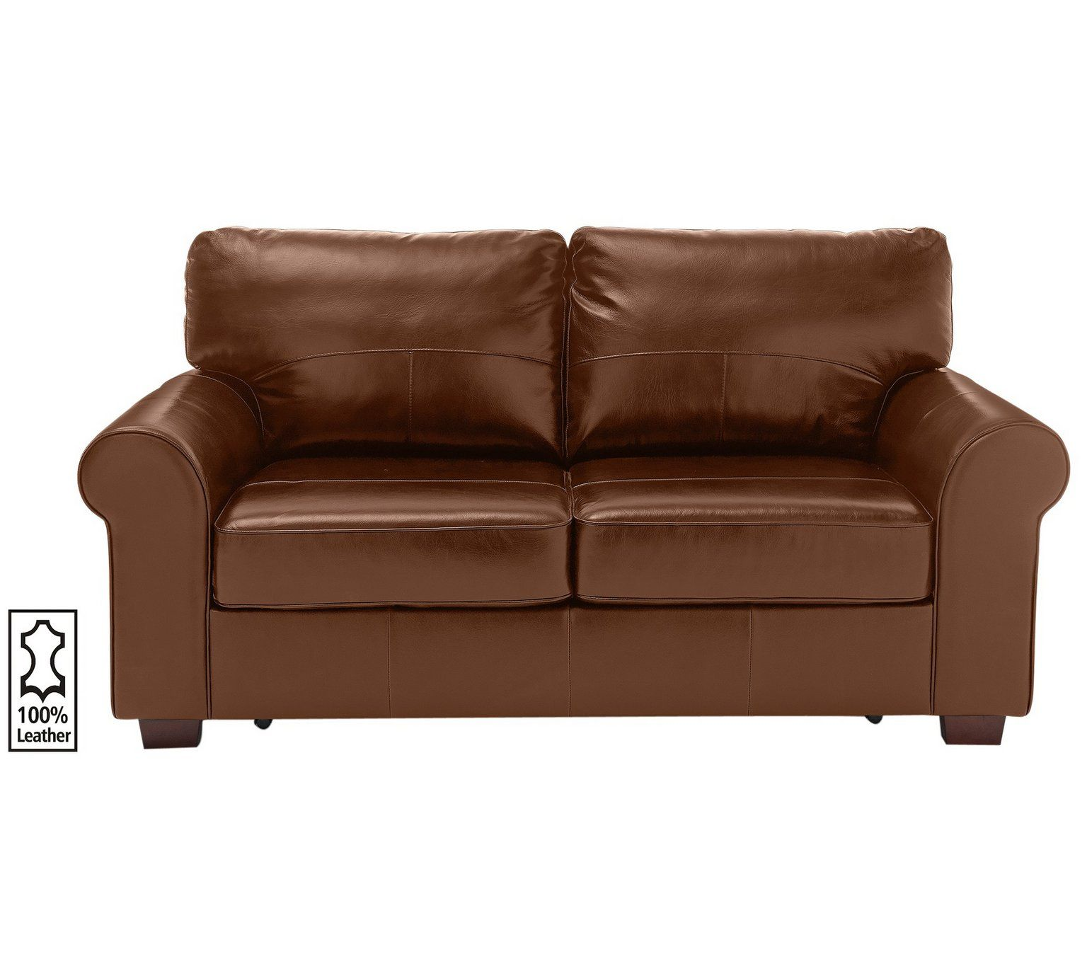 Buy Heart of House Salisbury 2 Seater Leather Sofa Bed - Tan ...