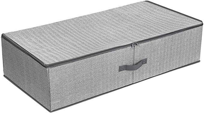 Amazon Com Songmics Underbed Storage Bag Storage Boxes Under Bed With Adjustable Divider Foldable Under Bed Storage Underbed Storage Bags Foldable Wardrobe