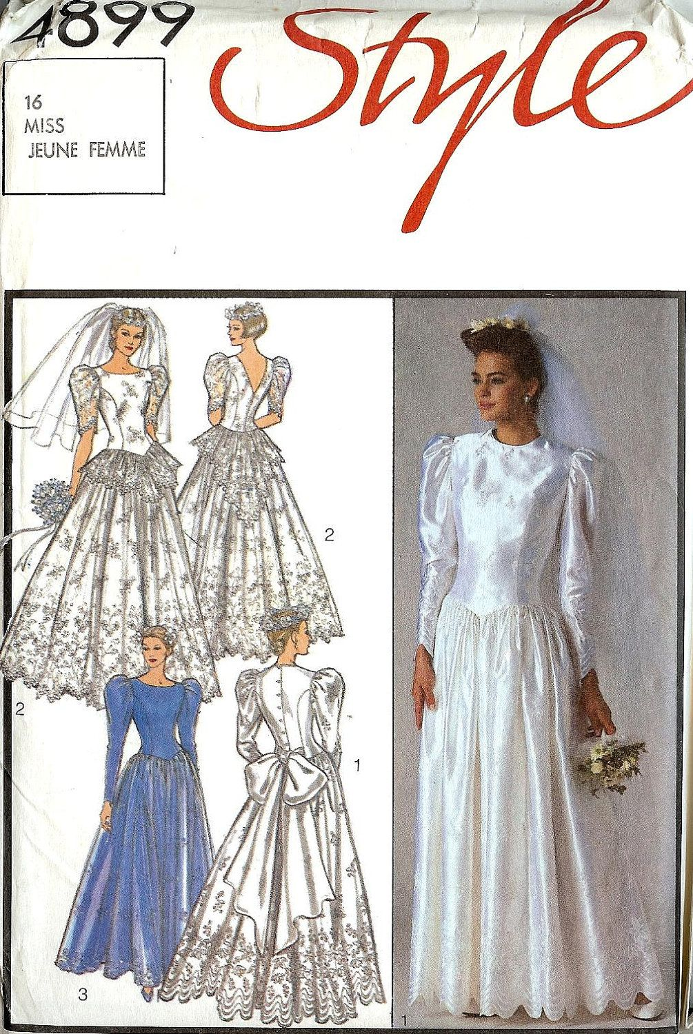 Pattern Style 4899 Bridal Gown Shaped Waist With Gathered Etsy Wedding Dress Sewing Patterns Wedding Dress Patterns Vintage Wedding Dress Sewing Patterns [ jpg ]