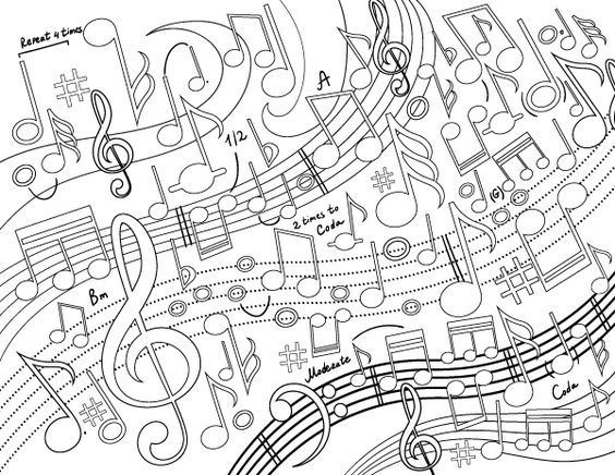 Pin By Melody Mccall On Coloring Music Coloring Pages Music Coloring Music Coloring Sheets