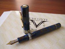 Visconti Novelli Augusta Le Blue Celluloid Fountain Pen 18kt