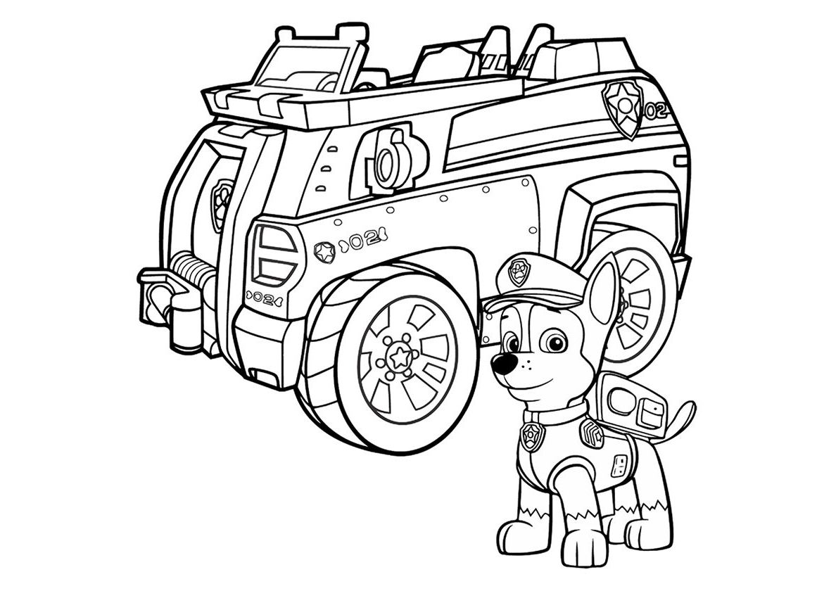 Coloring Pages Of Paw Patrol Chase