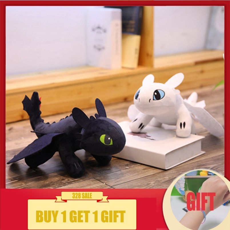 Toothless How to Train Your Dragon Hidden World  Night Fury Plush Soft Kid Gift