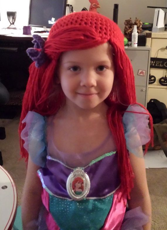 Ariel like Wig/Beanie by NanaPamsBabyThings on Etsy