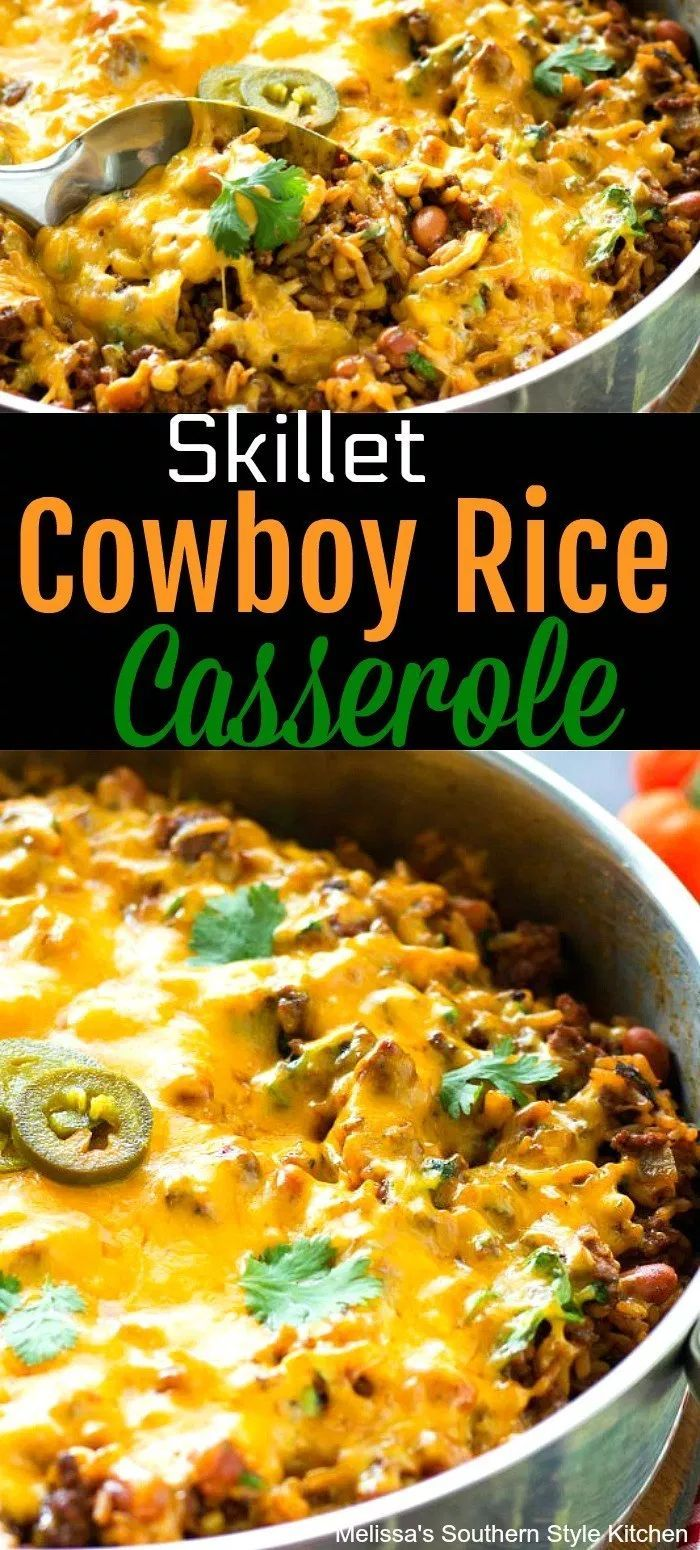 Photo of Skillet Cowboy Rice Casserole