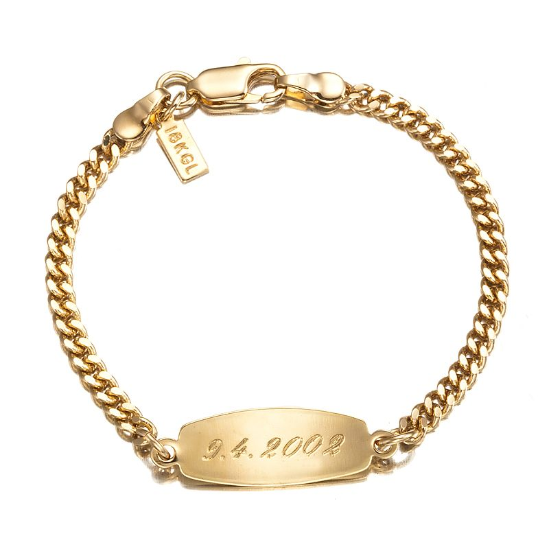 18ct Yellow Gold Layered Baby Id Bracelet With Parrot Clasp Id Bracelets Gold Layers Bracelets