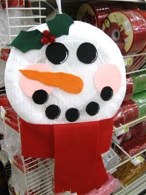 snow man wreath :)