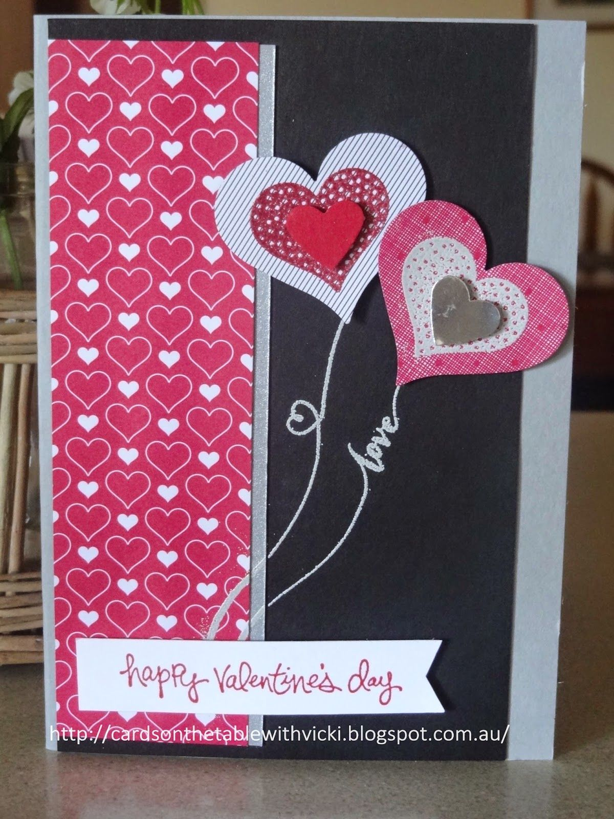 Cards on the table with Vicki: Valentine's Day -share the love.