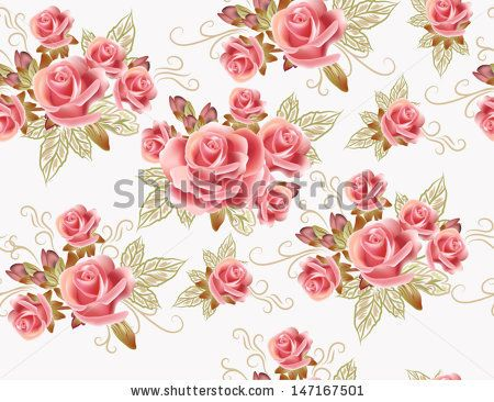 Fotos stock Vintage Flower Pattern Rose Color, Fotografia stock de Vintage Flower Pattern Rose Color, Vintage Flower Pattern Rose Color Imagens stock : Shutterstock.com