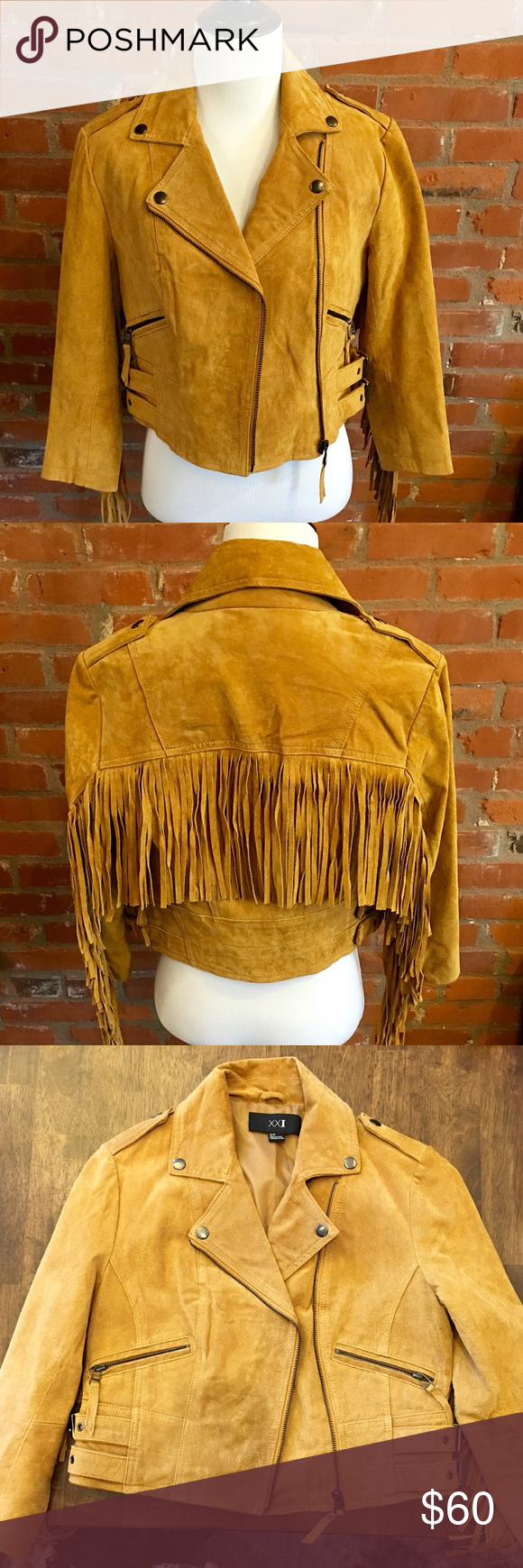 100 Tan Leather Jacket Brand New With Out Tags! Never