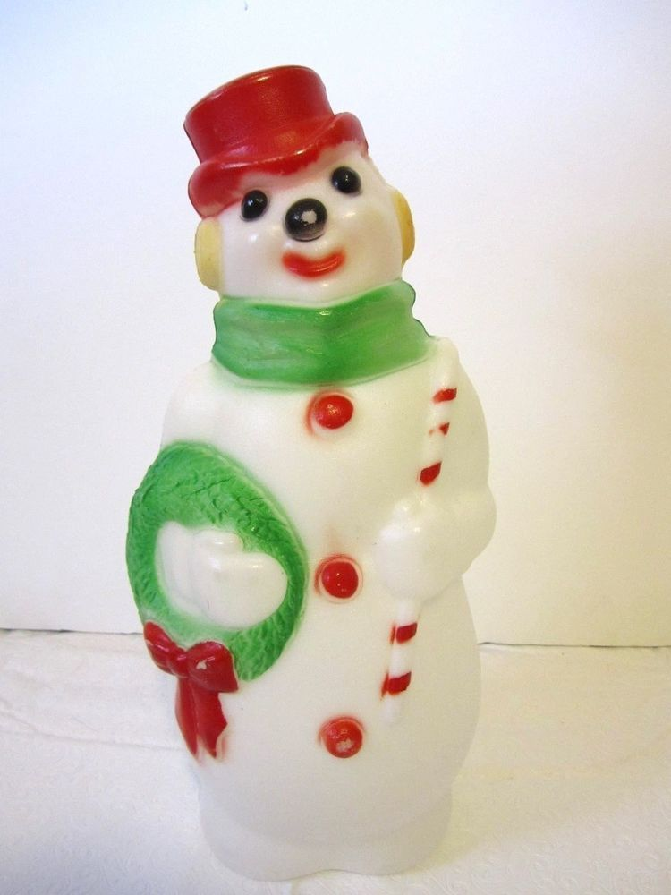 Vintage Christmas Snowman Empire Blow Mold Frosty Table Top Yard